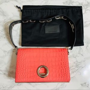 Alexander Wang Pink Croc Shoulder Bag
